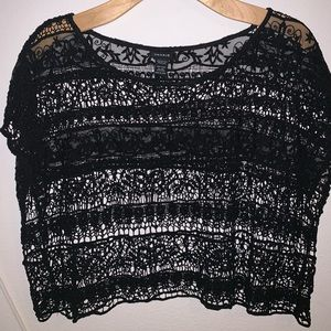 Plus Size Lace Crop Top